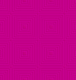 Pink offset squares embossed tile ornament vector