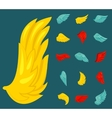 Wing icon flat vector