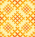 Orange crosses seamless pattern - abstract vector
