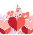 Bright lovers heart vector