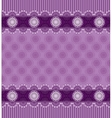 Seamless purple background with lace border vector