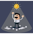 Businessman with ideas happy funny character vector