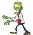 Cartoon green zombie vector