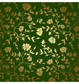 Green and gold floral texture for background vector