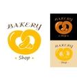 Pretzel bakery emblem vector