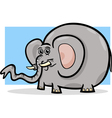Elephant wild animal cartoon vector