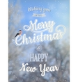 Christmas greeting card - snowy branches eps 10 vector