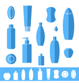 Shampoo soap icon set vector