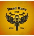 Moto wings poster vector