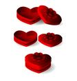 Emtly heart shape box with ribbon vector