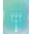 Curly ornamental candlestick with three stems vector