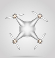Gray quadrocopter vector
