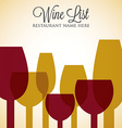 Red and white wine list menu cover in format vector