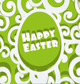 Happy easter egg openwork appliques banner vector