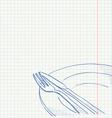 Cutlery drawing vector