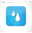 Rain drops icon vector