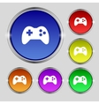 Joystick sign icon video game symbol set colourful vector