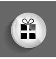 Gift glossy icon vector
