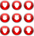 Shield round icons vector
