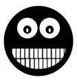 Smile face circle icon vector
