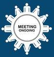 Meeting outgoing icon vector