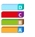 Abc color tags vector