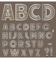 Silver swirly alphabet vector