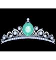 Silver tiara vector