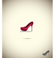 Logo shoe store fashion collection boutique label vector