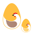 Egg and hen vector