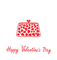 Love clutch with hearts happy valentines day vector