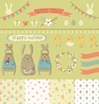 Easter graphic set vector