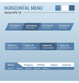 Horizontal menu vector