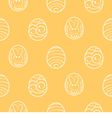 Easter seamless background decorated eggs on a vector
