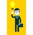 Businessman as a symbol of having an idea vector