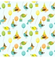 Party birds pattern vector