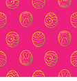 Easter seamless background decorated eggs on a red vector