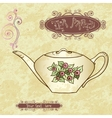 Tea party invitation card template vector