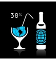 The world and alcohol vector