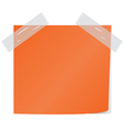Orange post it vector