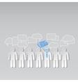 Business news team leader teamwork communication vector
