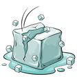 An ice cube vector