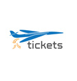 Plane tickets design template vector
