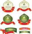 Labels and banners vector