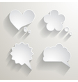 Set of white paper speech bubbles vector