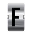 Alphabet silver flipboard letters f vector