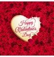 Rose flower and heart eps 10 vector