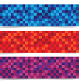 Abstracts mosaic banner header background vector