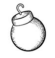 Christmas ball doodle vector