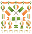 Irish flags and ribbons vector